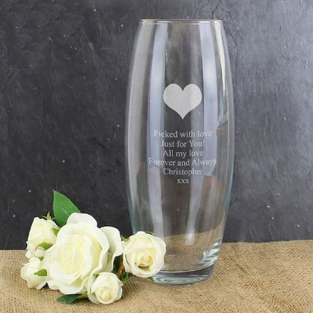 Personalised Bullet Vase -  Heart